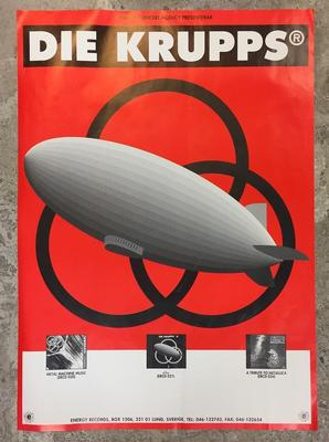 "DIE KRUPPS - <1> Promotional Poster For THe 1992 Album ""<1>"" & Various Backcatalog (POS)"
