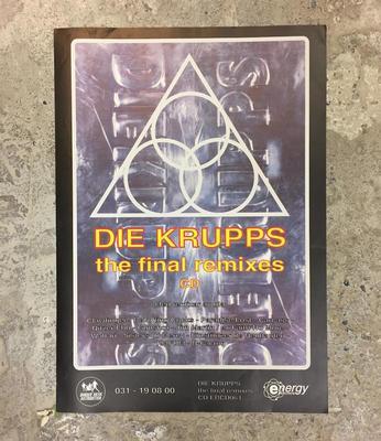 "DIE KRUPPS - THE FINAL REMIXES POSTER Promotional Poster For The '94 Album ""The Final Remixes"" (POS)"