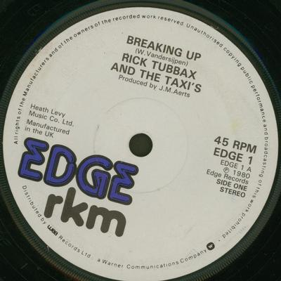 "RICK TUBBAX & THE TAXI'S - BREAKING UP / Fiction (7"")"