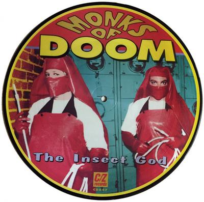 """MONKS OF DOOM - THE INSECT GOD Rare US Picture Disc, Numbered Edition (10"""")"""