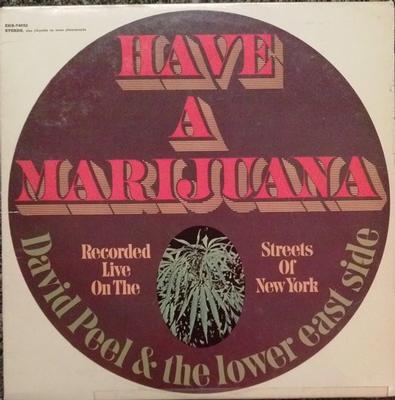 DAVID PEEL & THE LOWER EAST SIDE - HAVE A MARIJUANA US 70's Pressing (LP)