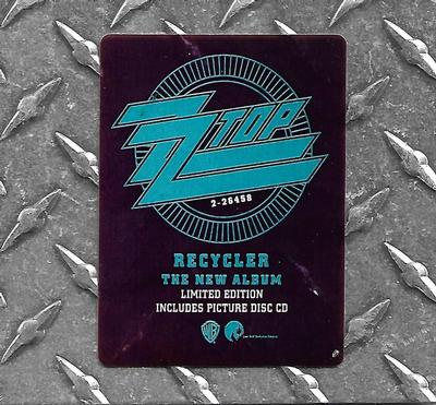 ZZ TOP - RECYCLER Scarce U.S. metal plate cover, still sealed! (CD)