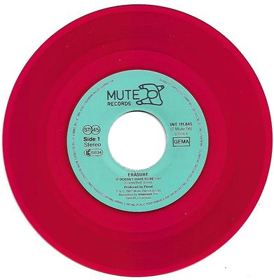 """ERASURE - IT DOESN'T HAVE TO BE / IN THE HALL OF THE MOUNTAIN KING Ltd German red vinyl (7"""")"""