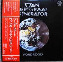 VAN DER GRAAF GENERATOR - WORLD RECORD Rare Japanese edition with OBI and insert! (LP)