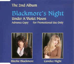 BLACKMORE'S NIGHT - UNDER A VIOLET MOON Scarce German promotional edition (CD)