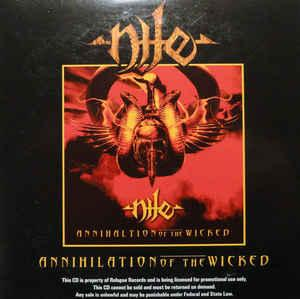 NILE - ANNIHILATION OF THE WICKED U.S. promo edition, card ps, with infosheet! (CD)