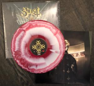 GHOST - MELIORA Red/white swirl. new Swedish pressing. Limited Edition. (LP)