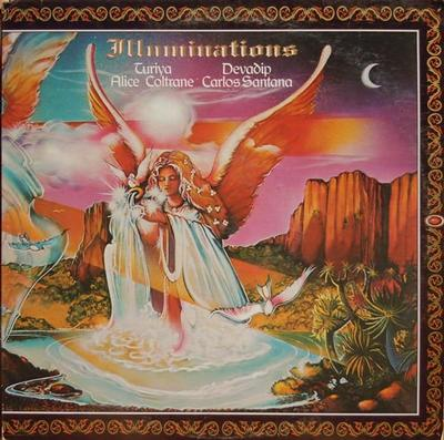 DEVADIP CARLOS SANTANA & TURIYA ALICE COLTRANE - ILLUMINATIONS U.S. pressing, export copy (LP)
