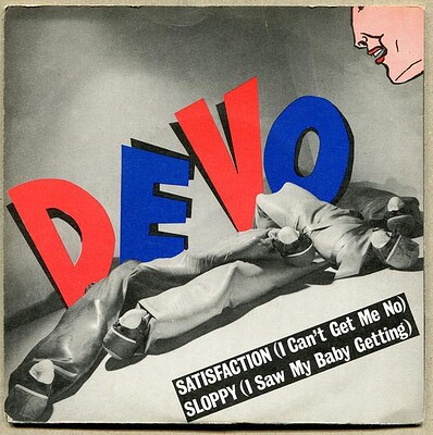 "DEVO - SATISFACTION / SLOPPY Rare Scandinavian ps (7"")"