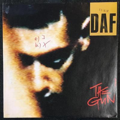 "DAF - THE GUN / Programm It (Instrumental) German Promo Copy (7"")"