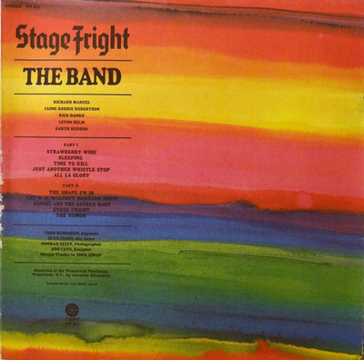 BAND, THE - STAGE FRIGHT US Pressing small toc (LP)