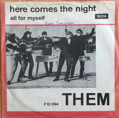 """THEM - HERE COMES THE NIGHT / All For Myself (woc) (7"""")"""
