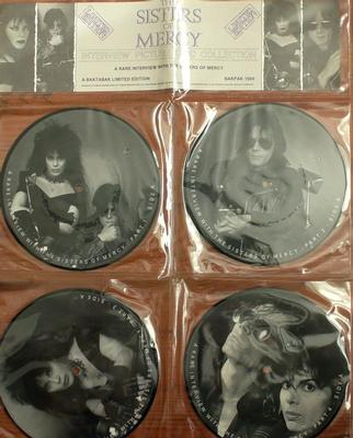 "SISTERS OF MERCY, THE - INTERVIEW PICTURE DISC COLLECTION Set of 4 picture disc 7"":s in PVC sleeve (7"")"