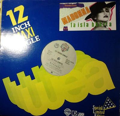 "MADONNA - LA ISLA BONITA Mega-rare Philippines maxi single! (12"")"
