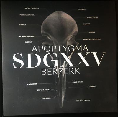 APOPTYGMA BERZERK - SDGXXV Limited Edition 300 copies, Transparent Green & Black (2LP)
