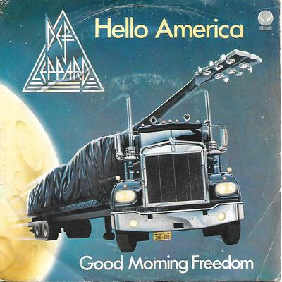 "DEF LEPPARD - HELLO AMERICA / GOD MORNING FREEDOM Rare early Italian ps (7"")"