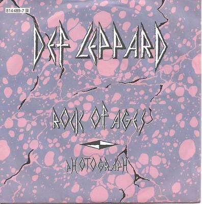 "DEF LEPPARD - ROCK OF AGES / PHOTOGRAPH Scarce German ps! (7"")"