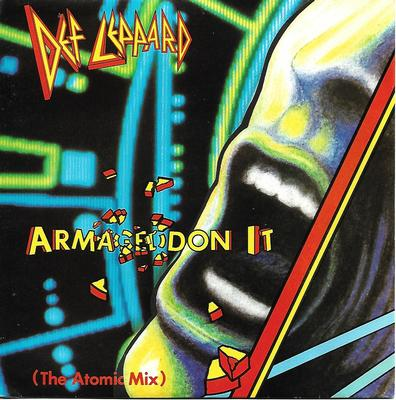 "DEF LEPPARD - ARMAGEDDON IT (THE ATOMIC MIX) / RING OF FIRE Spanish ps (7"")"
