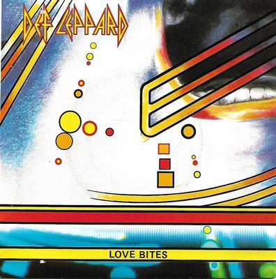 "DEF LEPPARD - LOVE BITES / I WANNA BE YOUR HERO Spanish ps (7"")"