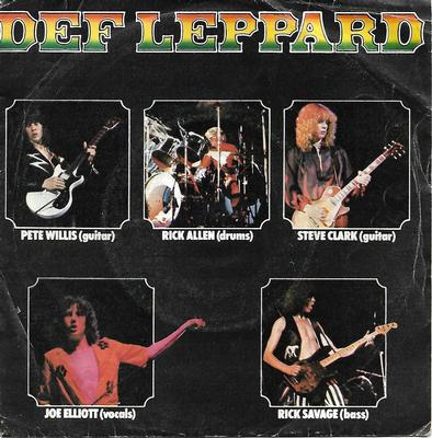 "DEF LEPPARD - WASTED / HELLO AMERICA Scarce early Spanish ps! (7"")"