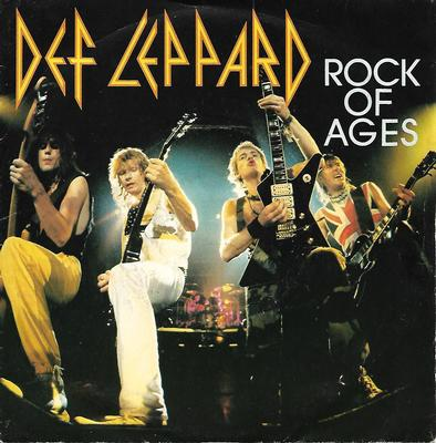 "DEF LEPPARD - ROCK OF AGES / ACTION! NOT WORDS French ps (7"")"