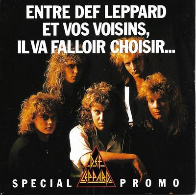 "DEF LEPPARD - ANIMAL / TEAR IT DOWN Rare French promo, gatefold ps (7"")"