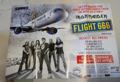 IRON MAIDEN / HEAVEN & HELL - FLIGHT 666 / THE DEVIL YOU KNOW Large poster! (POS)