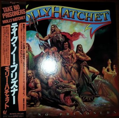 MOLLY HATCHET - TAKE NO PRISONERS Rare Japanese edition, with OBI and insert! (LP)