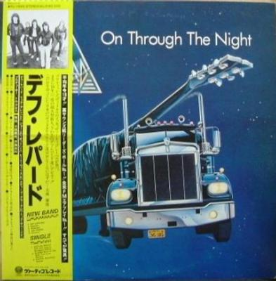 DEF LEPPARD - ON THROUGH THE NIGHT Scarce Japanese original edition, with OBI and insert (LP)