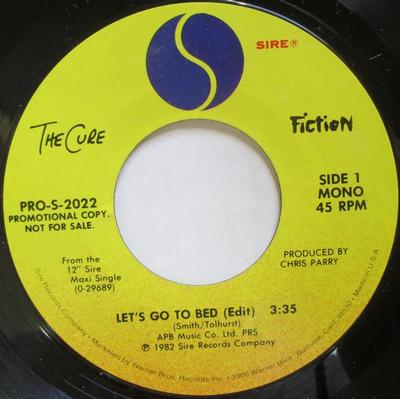 "CURE, THE - LET'S GO TO BED Scarce U.S. promo (7"")"