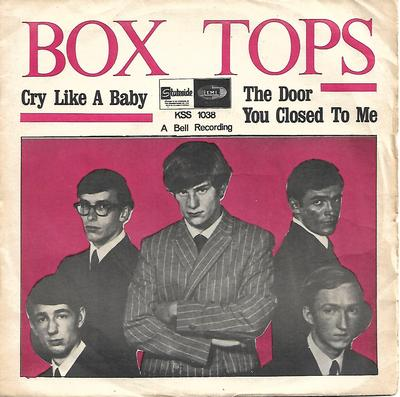 "BOX TOPS - CRY LIKE A BABY / THE DOOR YOU CLOSED TO ME Scarce Swedish ps (7"")"