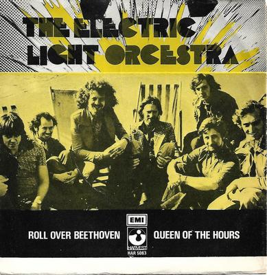 "ELECTRIC LIGHT ORCHESTRA - ROLL OVER BEETHOVEN / QUEEN OF THE HOURS Very rare Swedish ps! (7"")"