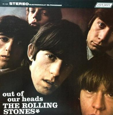 ROLLING STONES, THE - OUT OF OUR HEADS Canadian 70:s re-issue, sunrise labels (LP)