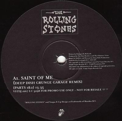 "ROLLING STONES, THE - SAINT OF ME UK Double Remix 12"", Mint Promo Copy! (12"")"
