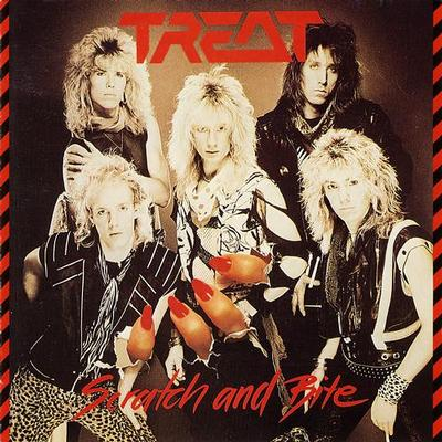 TREAT - SCRATCH AND BITE Swedish pressing, with poster (LP)