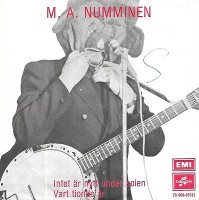 """NUMMINEN, M.A. - INTET ÄR NYTT UNDER SOLEN / VART TIONDE ÅR Rare, featuring Hurriganes! (7"""")"""