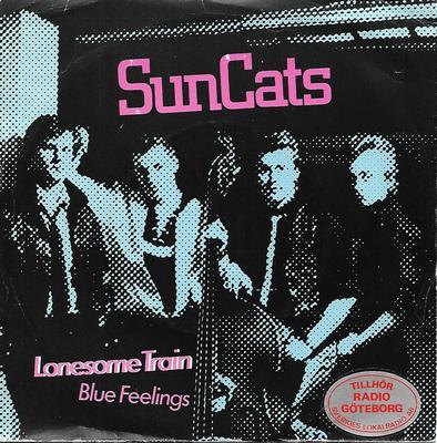 "SUN CATS - LONESOME TRAIN / BLUE FEELINGS Rare Swedish rockabilly from 1983. SR archive copy (7"")"