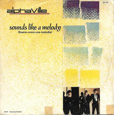 """ALPHAVILLE - SOUNDS LIKE A MELODY / THE NELSON HIGHRISE Rare Spanish red vinyl edition! (7"""")"""