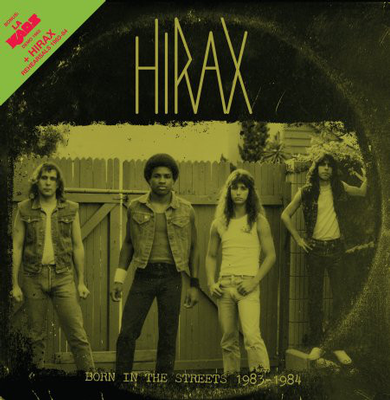 HIRAX / L.A. KAOS - BORN IN THE STREETS 1983-1984 US Power metal, incl. 8 page booklet (LP)