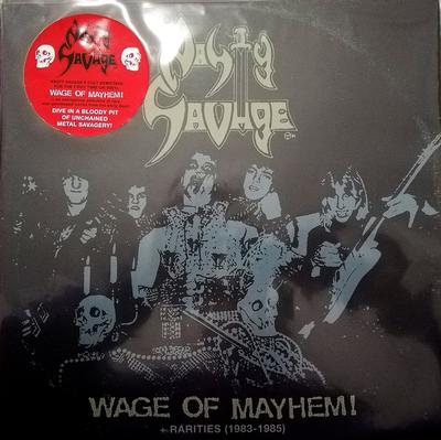 NASTY SAVAGE - WAGE OF MAYHEM - Rarities 1983-1985 US Speed/trash metal, incl. 8 page booklet (LP)