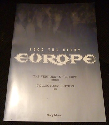 EUROPE - ROCK THE NIGHT - THE VERY BEST OF EUROPE Rare Swedish 6-trk promo CD, with folder! (CD)