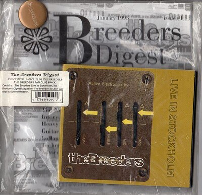 BREEDERS, THE - LIVE IN STOCKHOLM Fan Club pack, with CD, badge and magazine, still sealed! (CD)