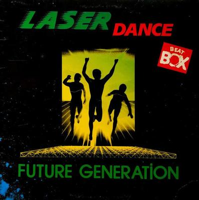 LASERDANCE - FUTURE GENERATION Classic Space synth album from 1987, Swedish promo! (LP)