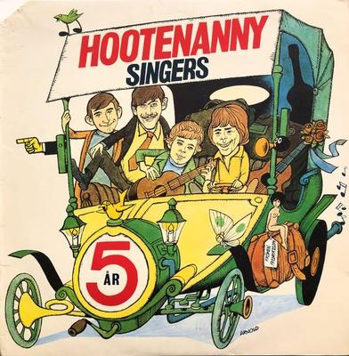 HOOTENANNY SINGERS - 5 ÅR Rare album, TOP COPY! (LP)