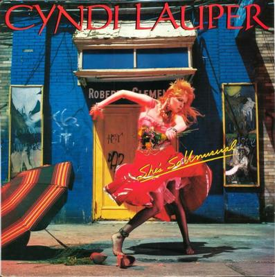 """LAUPER, CYNDI - SHE'S SO UNUSUAL Dutch pressing. Classic '80:s album, """"Girls just want to have fun"""", """"Time after time"""" a.o. (LP)"""