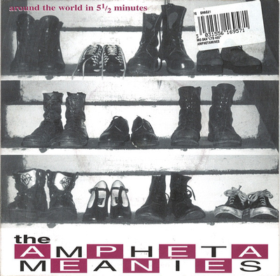 """AMPHETAMEANIES - AROUND THE WORLD IN 5 1/2 MINUTES UK 1998 Ska In Two-Tone Style (7"""")"""