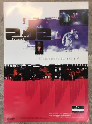 FRONT 242 - RE:BOOT LIVE Album promoposter 60x42cm (POS)