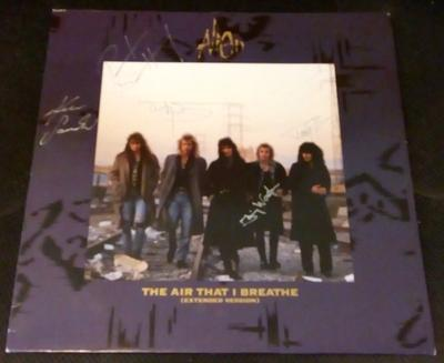 "ALIEN - THE AIR THAT I BREATH 12"" maxi single, signed by all members! (12"")"