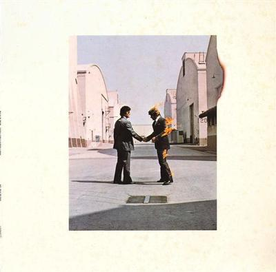 PINK FLOYD - WISH YOU WERE HERE Dutch 80:s re-issue, with postcard (LP)