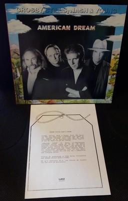 CROSBY, STILLS, NASH & YOUNG - AMERICAN DREAM German pressing, with Swedish promo infosheet! (LP)